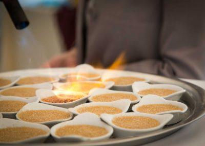 galerie Photos Val de Loir traiteur - atelier crème brûlée au foie gras