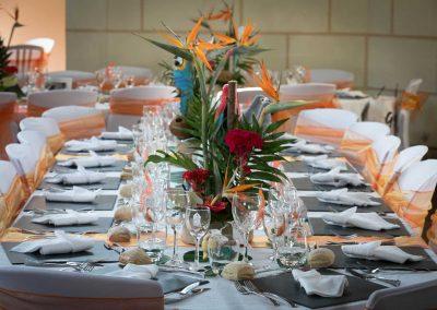 galerie Photos Val de Loir traiteur - table mariage thème tropique